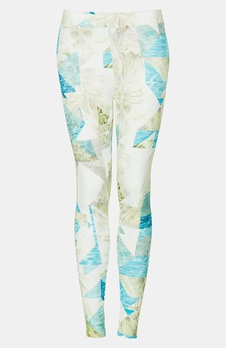 Topshop Palm Print Leggings