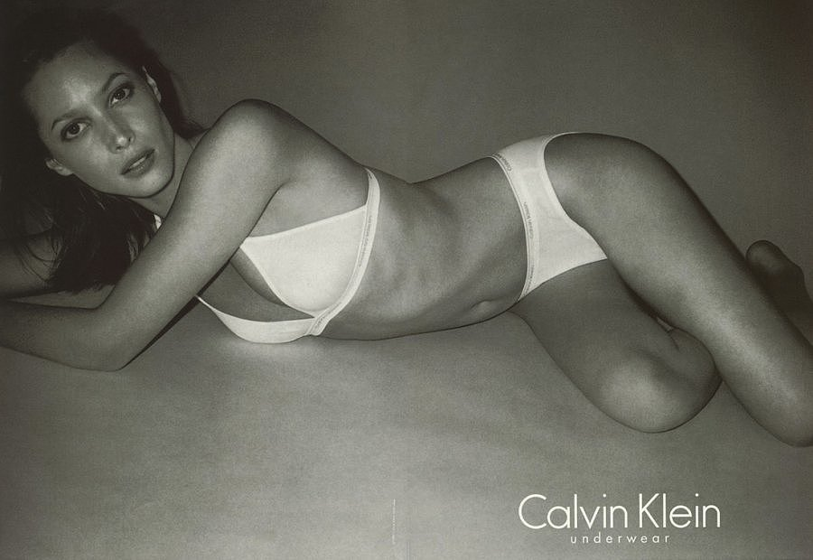Christy Turlington Burns in the Calvin Klein Underwear Fall 1997 campaign.