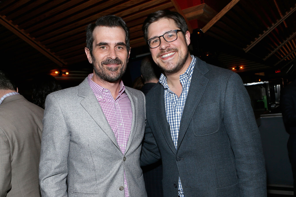 Ty Burrell met up with Rich Sommer inside the event.
