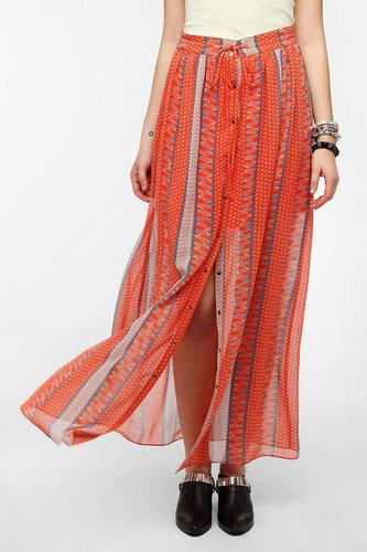 Chandi & Lia Snap-Front Maxi Skirt