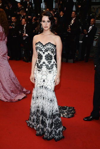 Lana Del Rey wore a black and white number to the Opening Ceremony at Cannes on Wednesday.