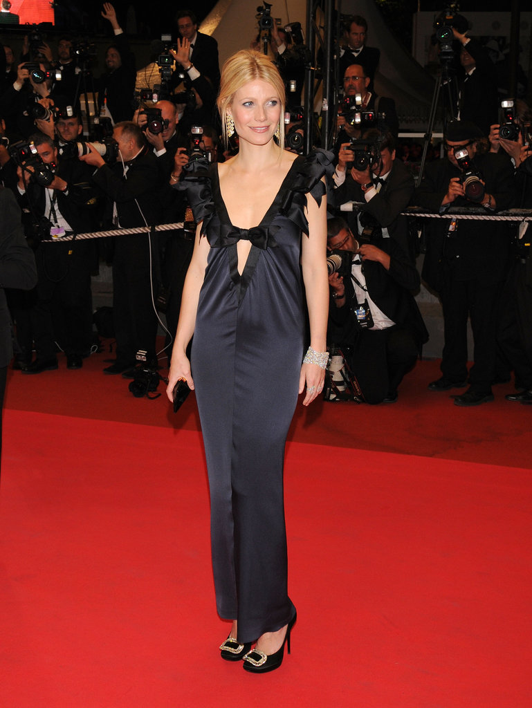 Gwyneth Paltrow wore a midnight blue Chanel gown at the 2008 festival premiere of Two Lovers.
