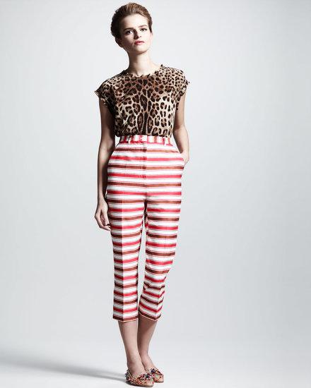 Dolce & Gabbana Striped Cropped Pants
