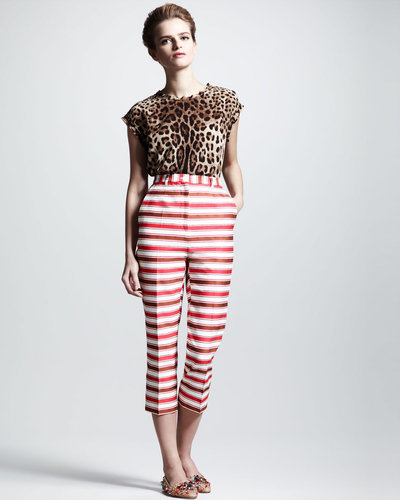 Dolce & Gabbana Striped Cropped Pants