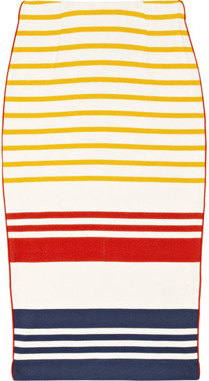 By Malene Birger Trille striped cotton pencil skirt
