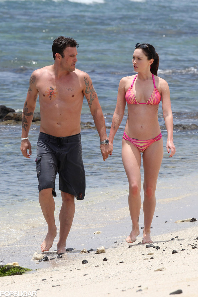 Brian and Megan enjoyed a day at the beach together in Hawaii back in June 2011.