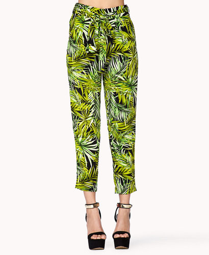 FOREVER 21 Tropical Print Harem Pants