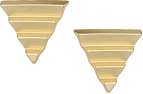 Ridge Triangle Stud Earrings