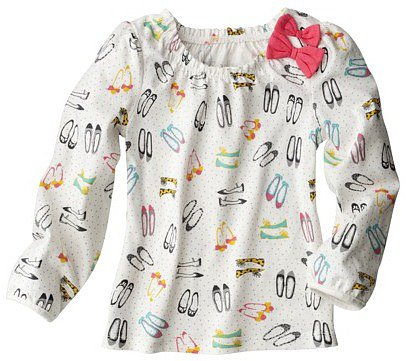 Cherokee® Infant Toddler Girls' Long-Sleeve Top - White
