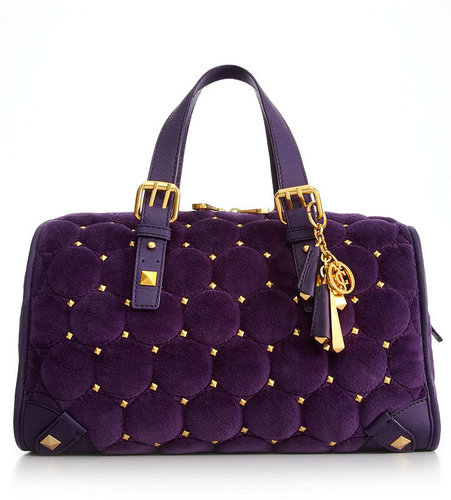 Juicy Couture Handbag, Steffy Quilted Stud Velour Bag