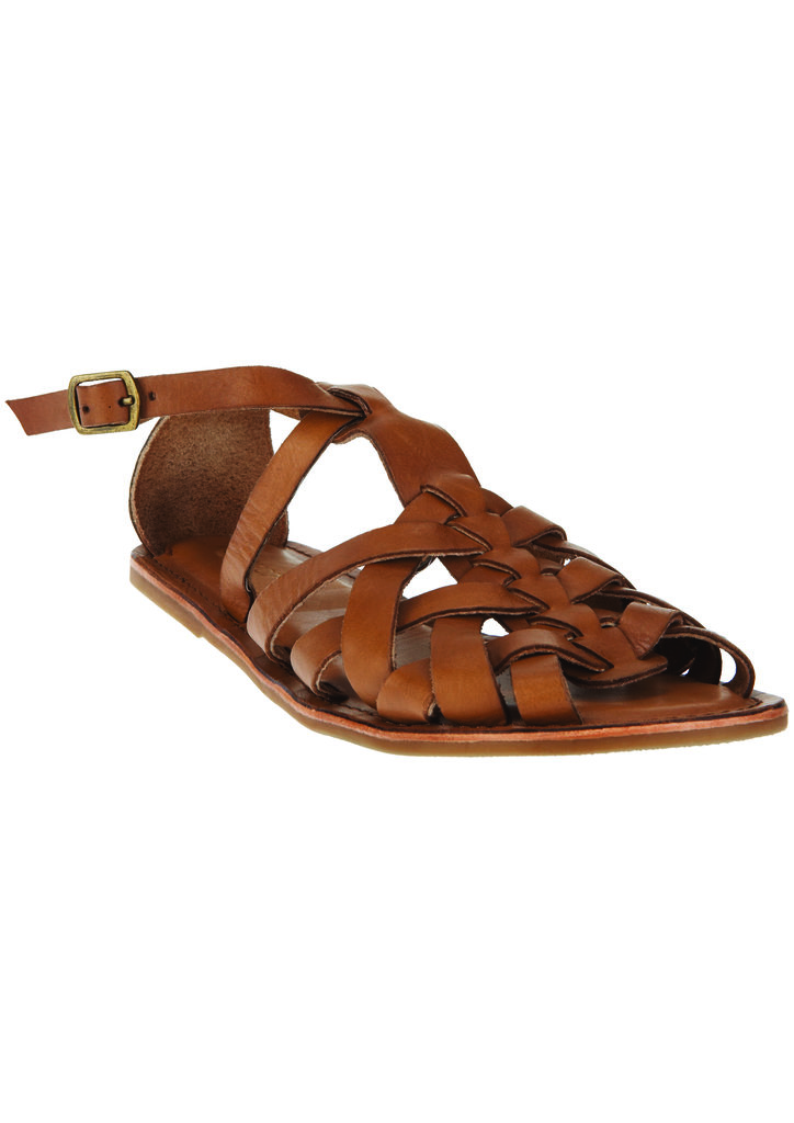 For the girl who wants to keep things simple as far as footwear options go, opt for the brown sandals from the Topshop Festival Collection for Summer 2013, inspired by Kate Bosworth.