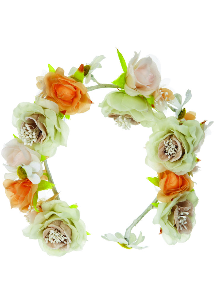 The quintessential — if not a bit hippie-nostalgic — floral-wreath headband from the Topshop Festival Collection for Summer 2013, inspired by Kate Bosworth.