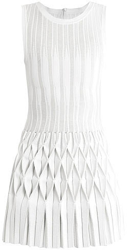 Azzedine Alaïa Origami pleated-skirt dress