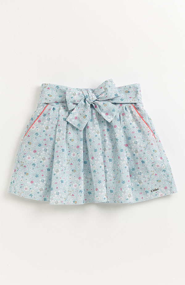 Your little stylesetter will look oh so lovely in Chloé's floral skirt ($142-$154).
