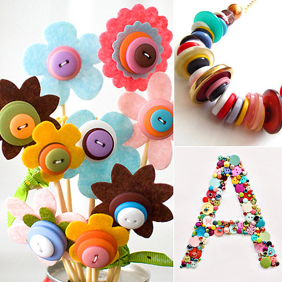 Button craft ideas popsugar moms for Neat craft ideas