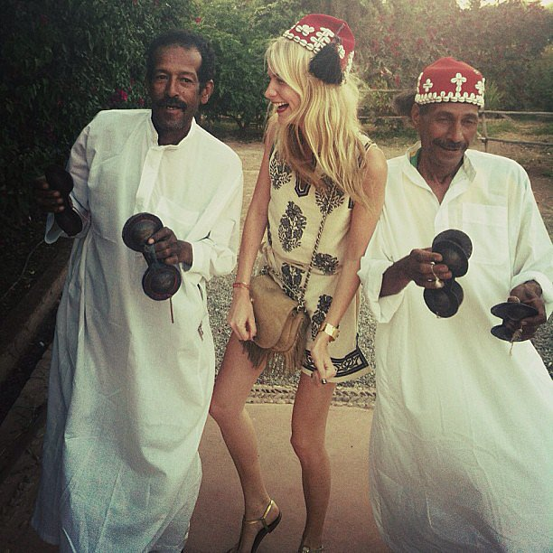 Poppy Delevingne got down with the locals during a trip to Morocco. Source: Instagram user poppydelevingne