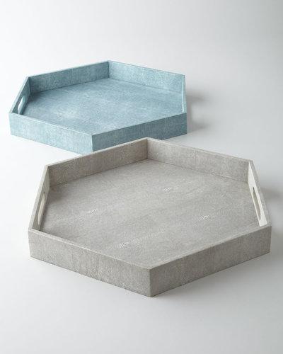 Regina-Andrew Design Faux-Shagreen Hex Tray