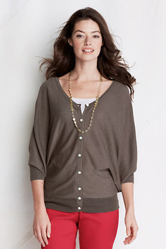 Women's Regular 3/4-sleeve Viscose Blend 2-way Open Neck Cardigan