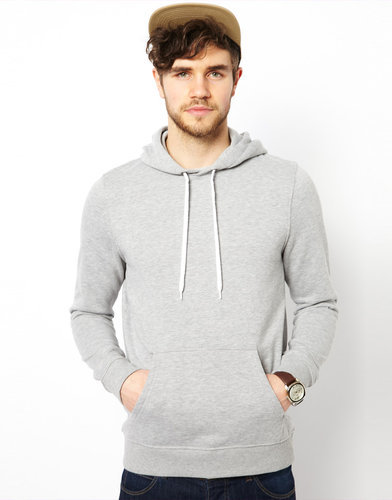 ASOS Hoodie In Heavy Weight Jersey Marl