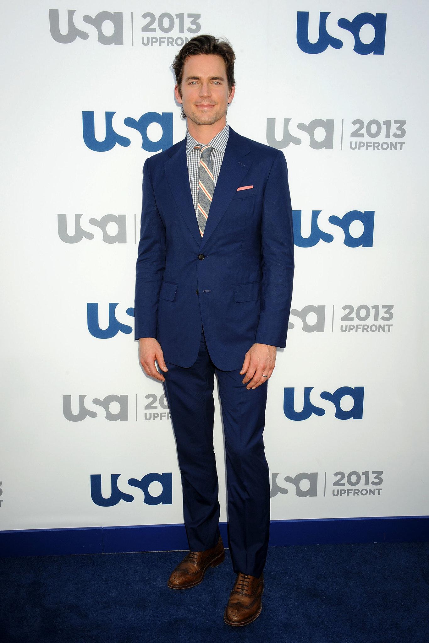 Matt Bomer looked great in a blue suit.