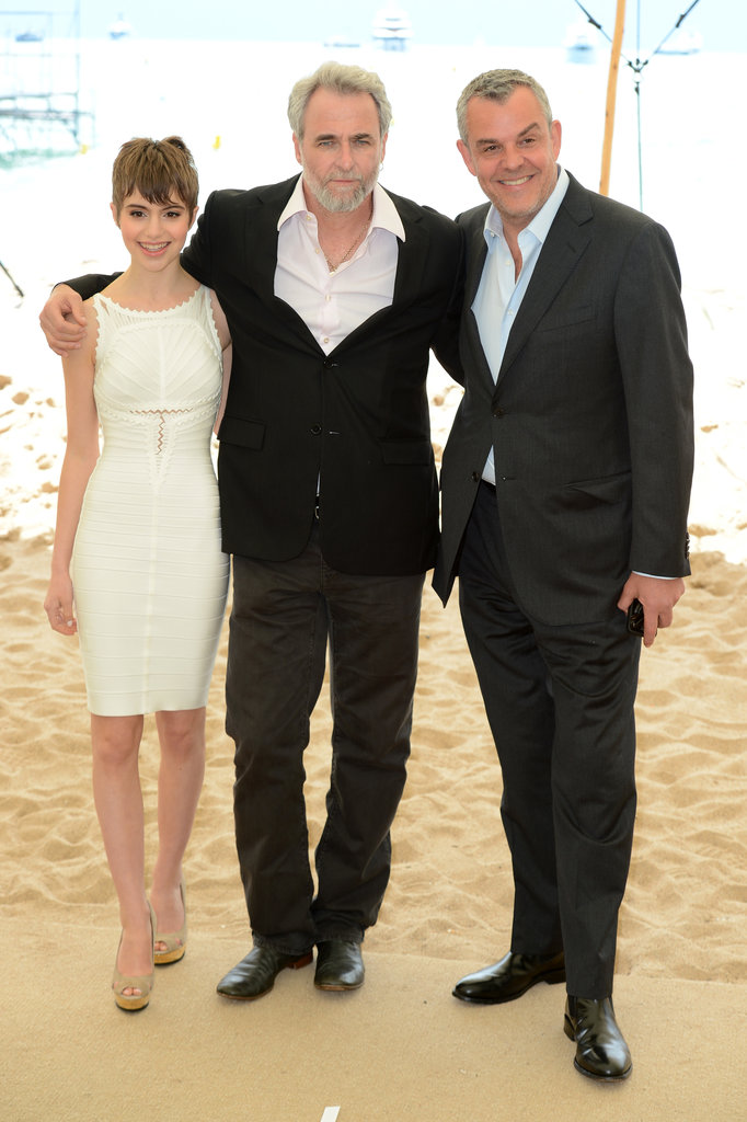 Danny Huston mingled on a beach with The Congress co-stars Sami Gayle and Ari Folman.