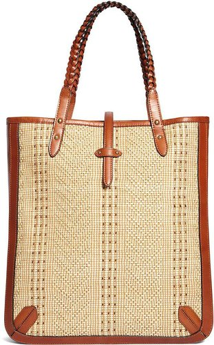 Knit Straw Large Tote