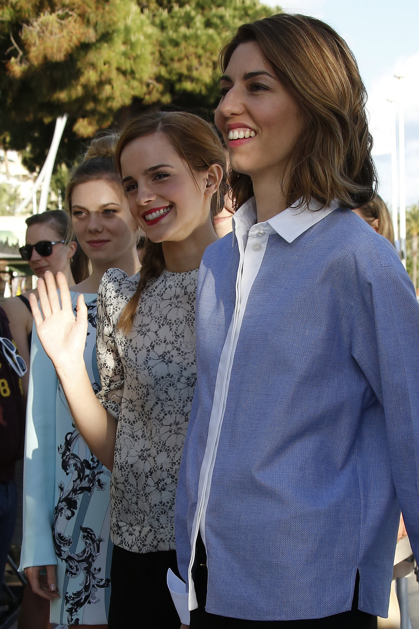 Emma Watson and Sofia Coppola promoted The Bling Ring at Cannes.