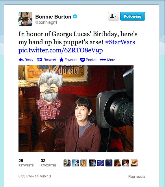 Star Wars web show host Bonnie Burton celebrates the film producer, director, screenwriter, and geek legend's 69th birthday!