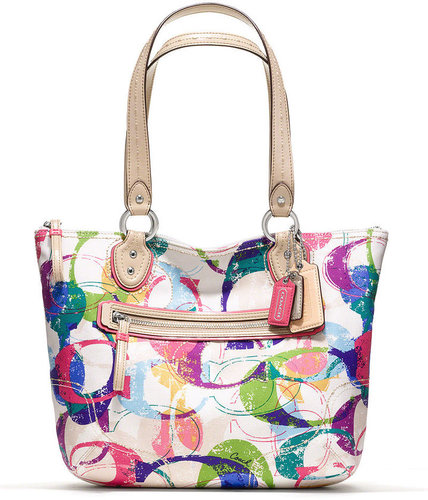 Coach Poppy Stamped C Small Tote