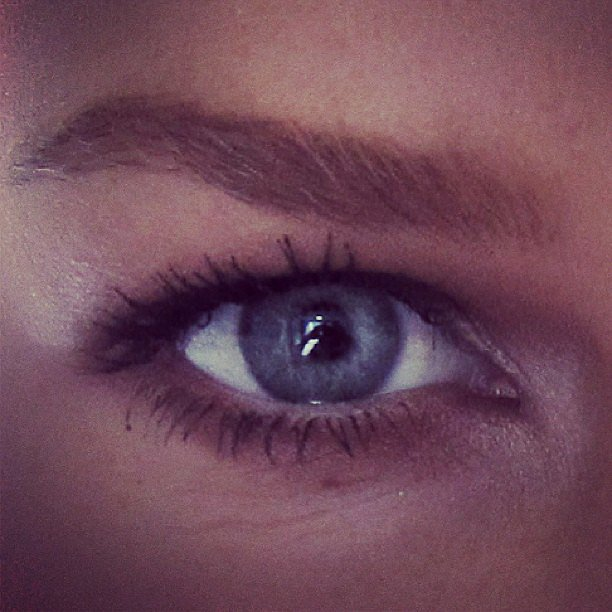 Lara Bingle zoomed in on that pretty blue eye of hers. . . Loving that strong brow, too! Source: Instagram user mslbingle