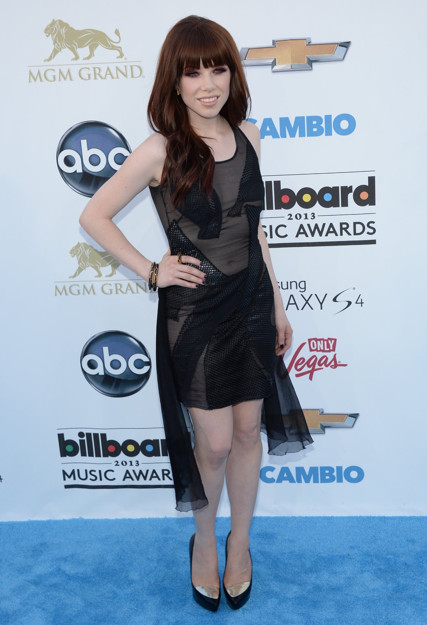 "Carly Rae Jepsen played with proportions, albeit subtly, with this ""high"" meets low LBD."