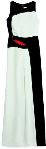 Carolina Herrera Chiffon Ruched Gown