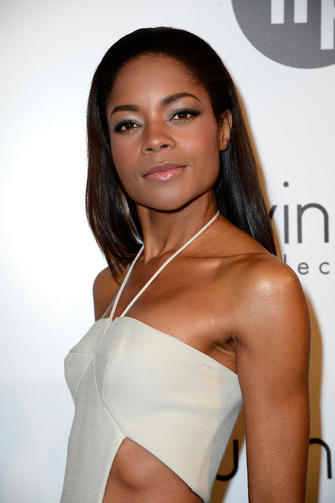 Naomie Harris was looking tanned and toned at Cannes, and we're digging her experimentation with a light eyeshadow.