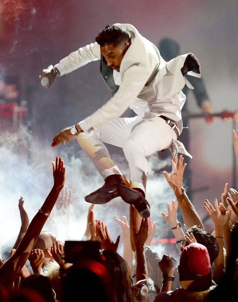 Miguel jumped from the stage during his performance.