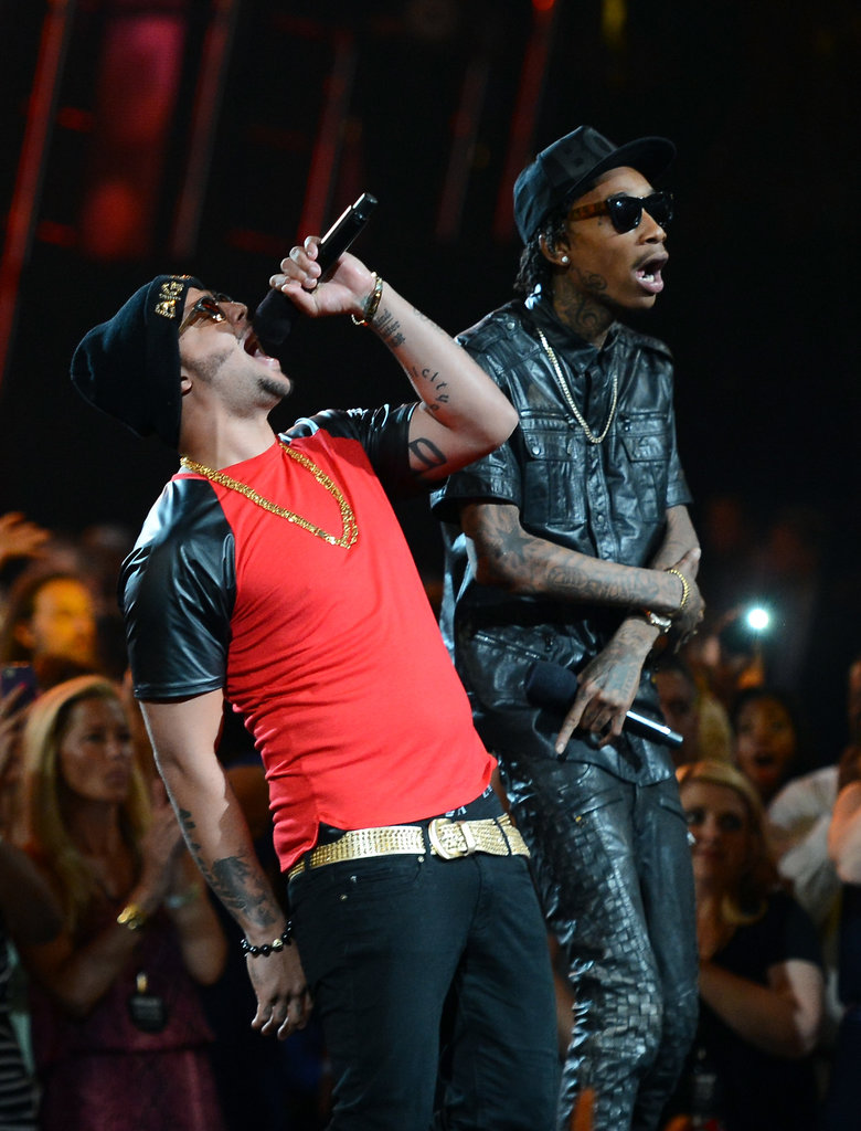 SkyBlu and Wiz Khalifa took the stage together at the Billboard Music Awards.