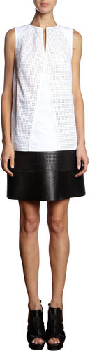 Proenza Schouler Perforated Sleeveless Top