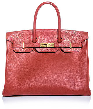 Hermes Vintage Birkin 35 leather bag