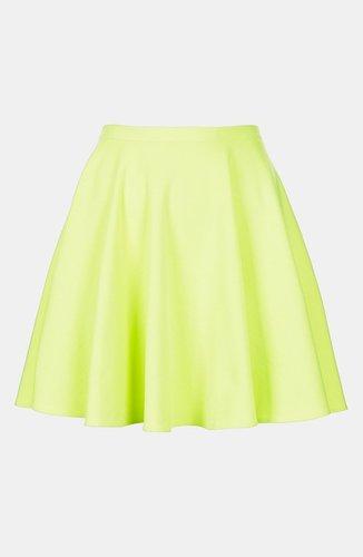 Topshop 'Milano' Jersey Skater Skirt