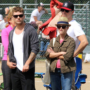 Reese Witherspoon and Ryan Phillippe at Deacon's Game