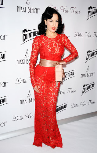 Dita Von Teese was honored at a Cannes Film Festival party on Monday.