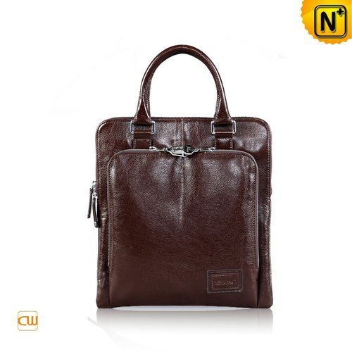 Brown Leather Bags for Men CW972324 - cwmalls.com