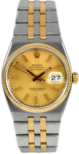 Rolex Stainless-Steel and Yellow Gold Datejust Oysterquartz (c. 1980s)