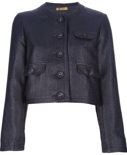 Peter Jensen collarless cropped jacket