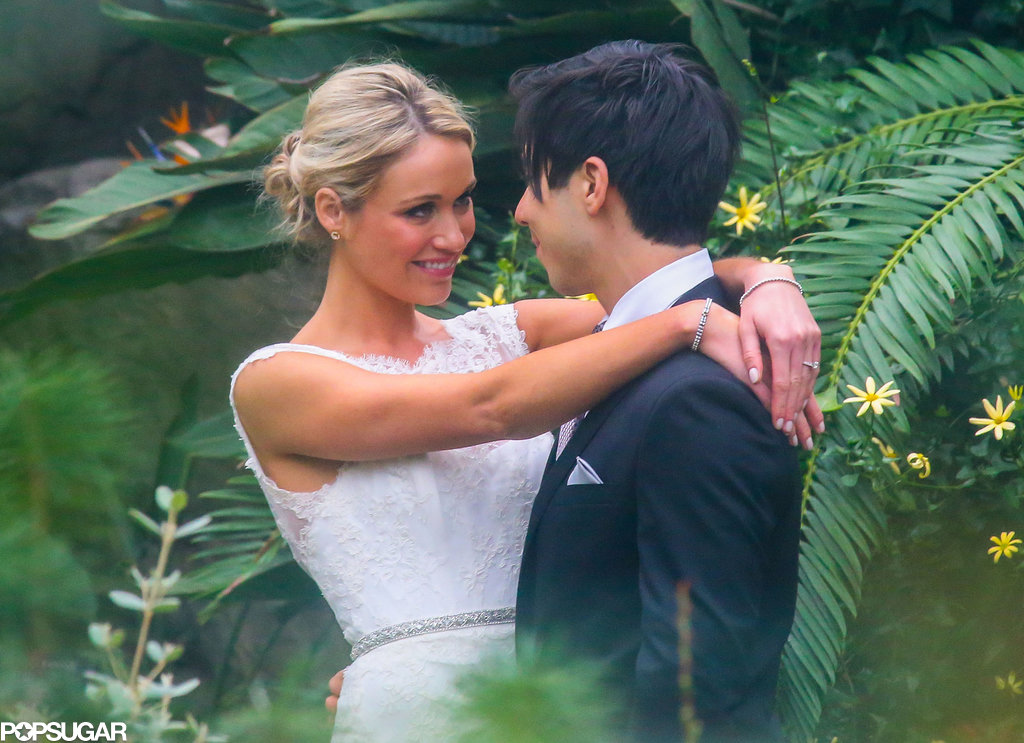 Katrina Bowden shared a look of love with husband Ben Jorgensen on their wedding day.