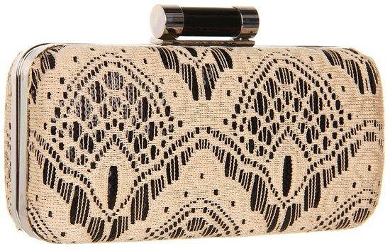 Jessica McClintock - Lace Mainaudiere (Black) - Bags and Luggage