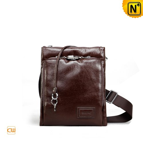 Leather Shoulder Bags for Men CW972320 - cwmalls.com