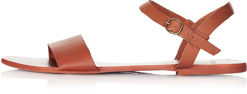 HOUPLA Leather Strap Sandal