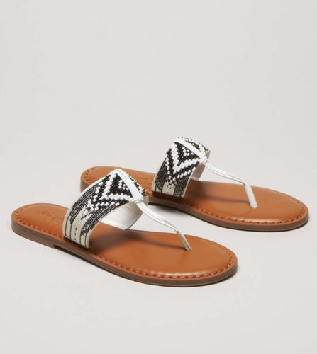 AEO Beaded T-Strap Sandal