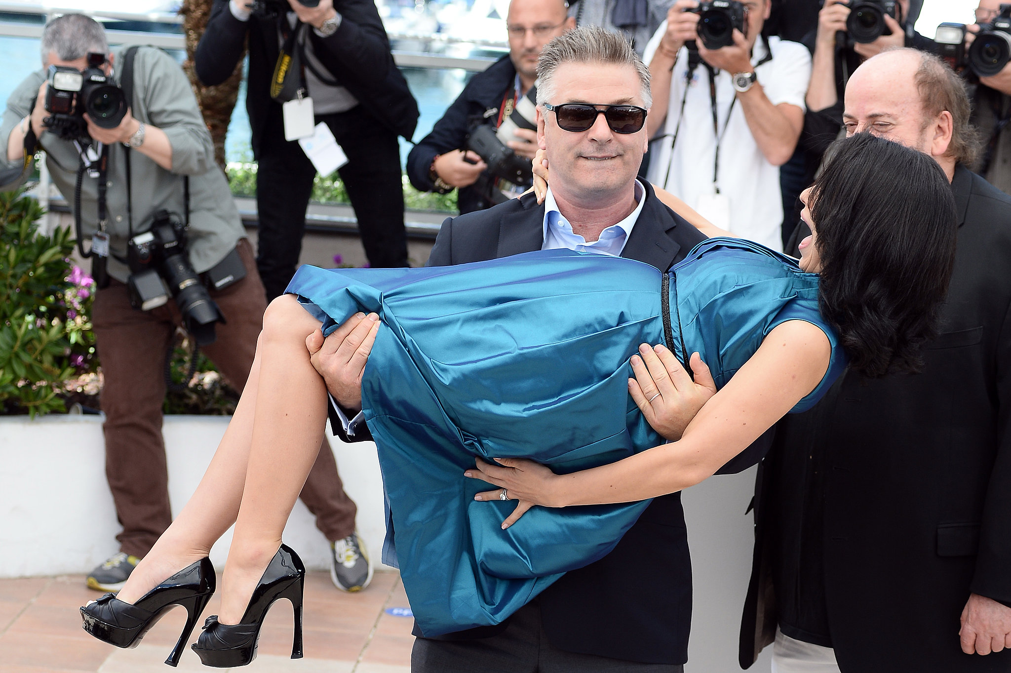 Alec Reenacts His Classic Cannes Move With Pregnant Hilaria
