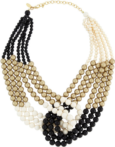 Greenbeads Six-Strand Colorblock Beaded Necklace